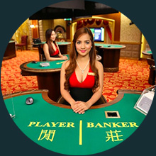 Baccarat Live Casino dealer